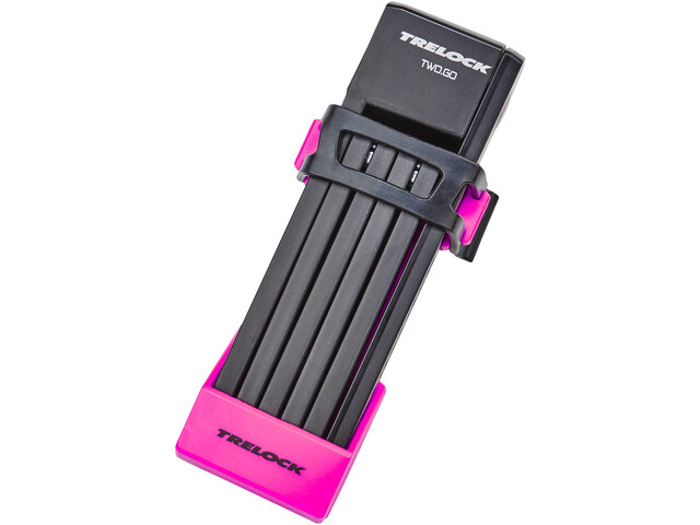 Trelock FS 200/75 TWO.GO Cykellås 75 cm, pink